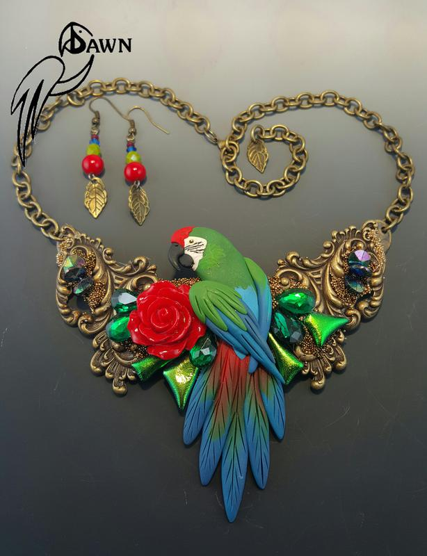Military Macaw Special Necklace Set 11