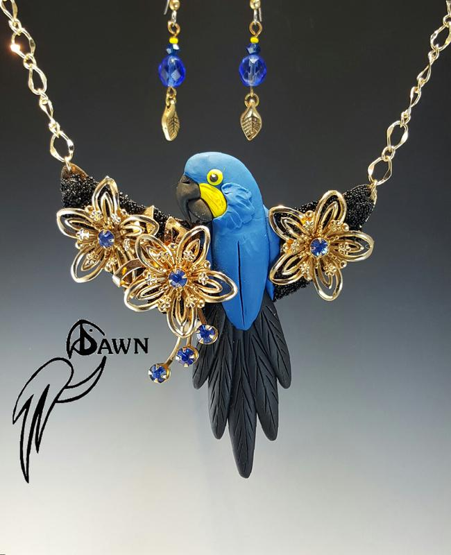 Hyacinth Macaw Special Necklace Set 59