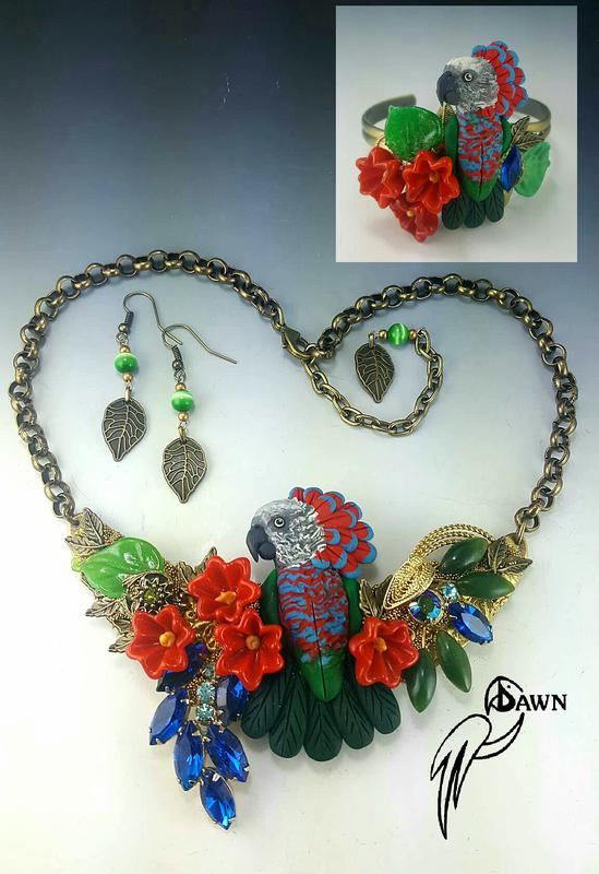 Hawk Head Parrot Special Necklace Set 13
