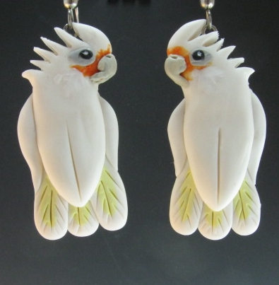 Bare Eye Cockatoo Earrings