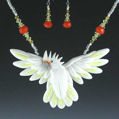 Goffin Cockatoo Open Wing Necklace