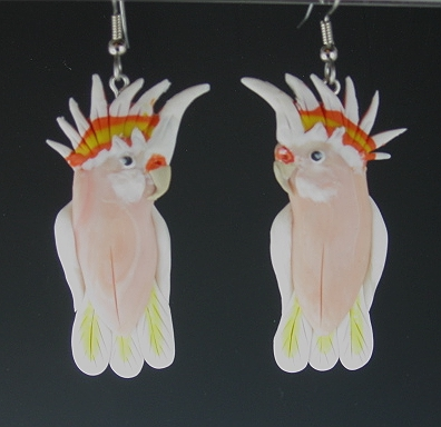 Major Mitchell Cockatoo Earrings