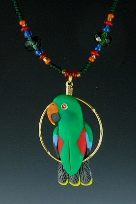Male Eclectus Charm Necklace