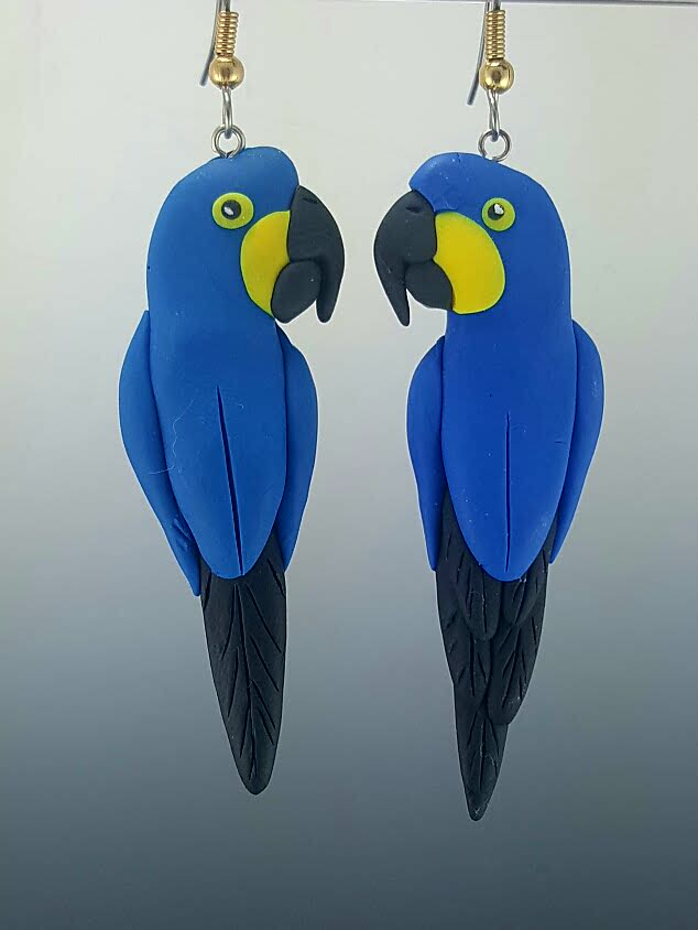 Hyacinth Macaw Earrings