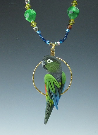 Patagonian Parrot Charm Necklace