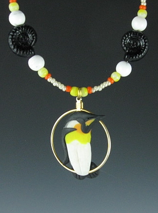 King Penguin Charm Necklace