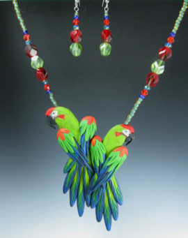 Red Fronted Macaws Pendant
