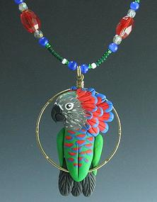 Hawk Head Parrot Charm Necklace