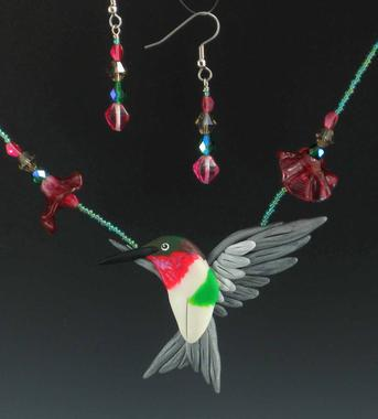 Hummingbird Necklace Set 10