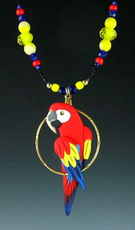 Scarlet Macaw Charm Necklace