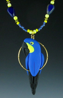 Hyacinth Macaw Charm Necklace