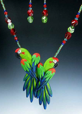Red Front Macaw jewelry