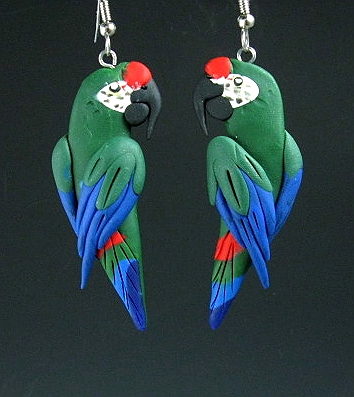 Military Macaw Earrings