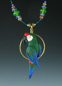 Military Macaw Charm Necklace