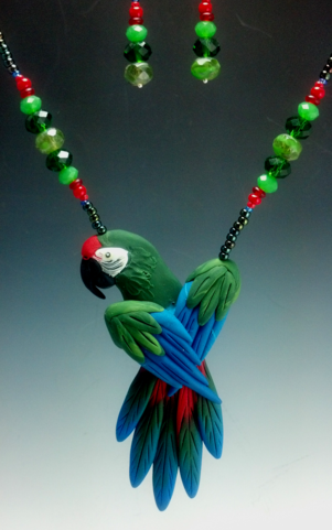 Military Macaw Necklace Set