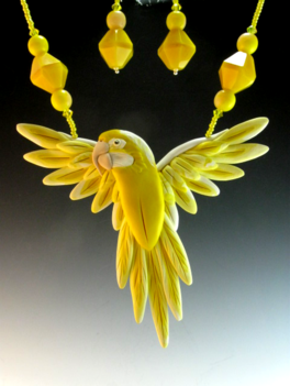 Golden Macaw Necklace Set