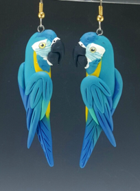 Blue Throat Macaw Earrings