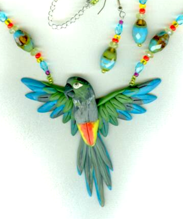 Patagonian Parrot Necklace Set