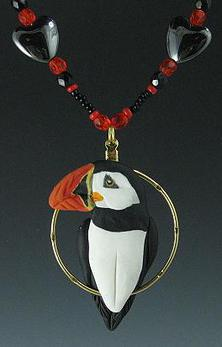 Puffin Charm Necklace